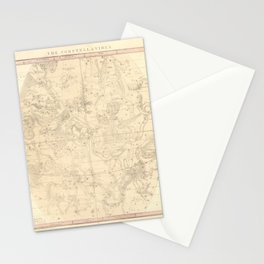Burritt's Constellations (July, August, September) (1856) Stationery Cards