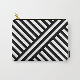 two way stripey diagonal Carry-All Pouch