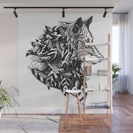 Wolf Profile Wall Mural