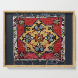 Antique Carpet Sadle Bag Serving Tray