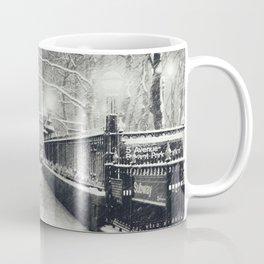 New York City Snow Bryant Park Coffee Mug