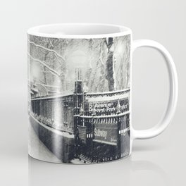 New York City Snow Bryant Park Coffee Mug