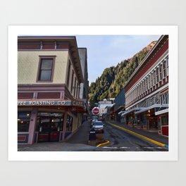Seward Street in Juneau Art Print