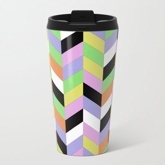 Stacked Colour Metal Travel Mug
