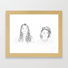 abbi and ilana Framed Art Print