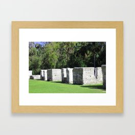 Kingsley Plantation Slave Cabins Framed Art Print
