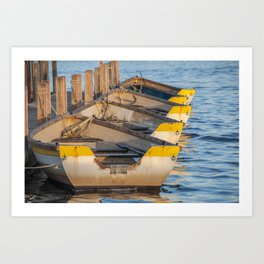 Boats In A Row Art Print