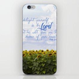 Sunflower Delight - Psalm 37:4 iPhone Skin