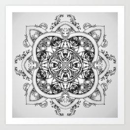 Doctor Who Clockwork Droid Mandala Art Print