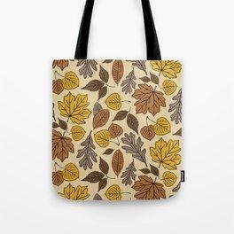 Falling Leaves Pattern Tote Bag
