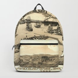 Vintage Pictorial Map of Duluth MN (1883) Backpack