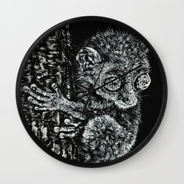 Bohol Tarsier from the Philippines Wall Clock