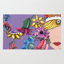 I Love the Flower Girl Lavender Rug