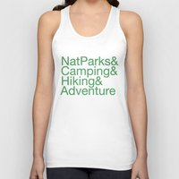 hiking Tank Tops featuring National Parks & Hiking & Camping & Adventure by New Rustic Future