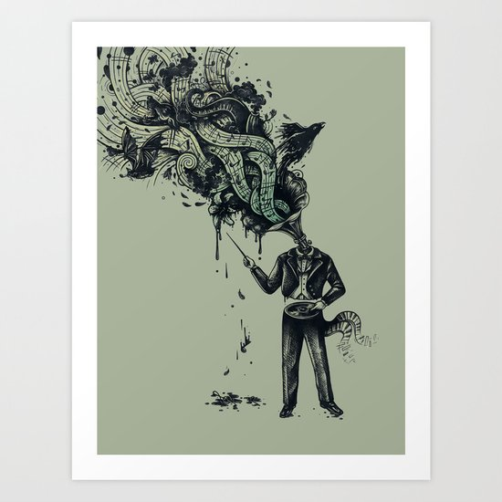 Decaying Sound of The Terror Art Print