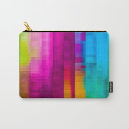 Vertical Rainbow Color Palette Carry-All Pouch