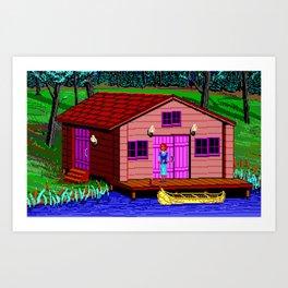 The Boathouse - The Crimson Diamond Art Print