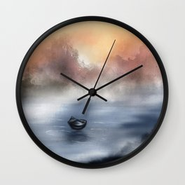 The Lake of Tranquility Wall Clock