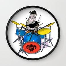 Rhino Punk Wall Clock