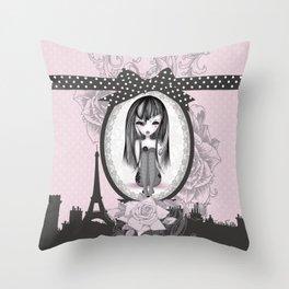 éMo Romantik Gothik 'Paris' Throw Pillow