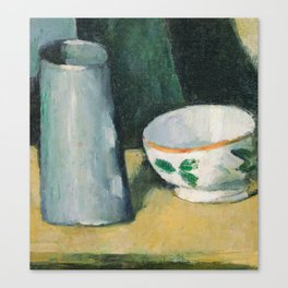 Bowl and Milk-Jug Canvas Print
