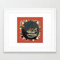 gorilla Framed Art Prints featuring Gorilla by Exit Man