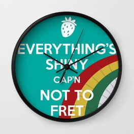 Everything's Shiny Cap'n! (Parasol) - Kaylee Wall Clock