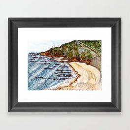Cabo Mondego, Portugal Framed Art Print