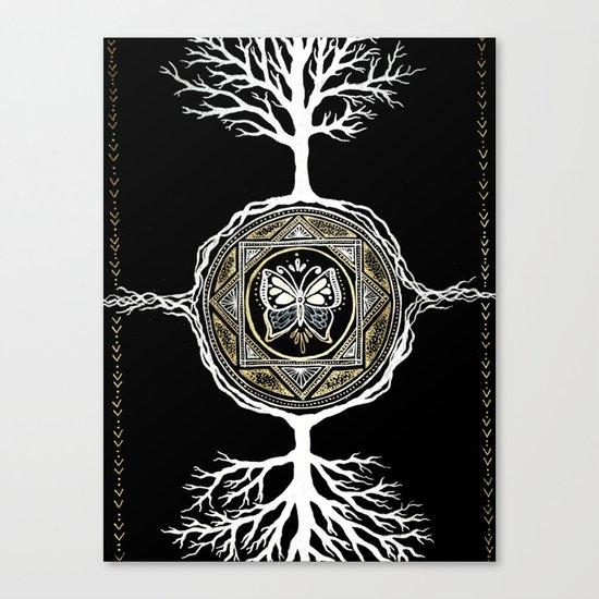 Butterfly Tree Mandala Canvas Print