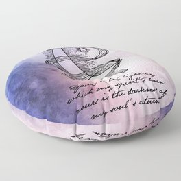 EE Cummings - The Light By Which My Spirit's Born Floor Pillow