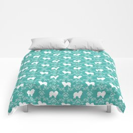 Chow Chow silhouette floral dog breed gifts chow chows pure breed Comforters