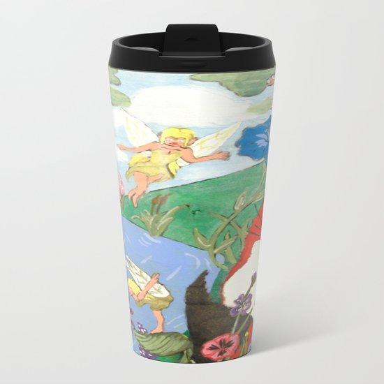 Fox And The Fairy Metal Travel Mug