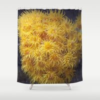 coral Shower Curtains featuring Coral by Deborah Janke