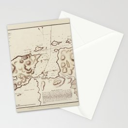 Map Of Fogo Island 1828 Stationery Cards