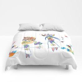 King, queen and butterflies Comforters