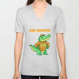 Zoo, Animal, Pet Unisex V-Neck