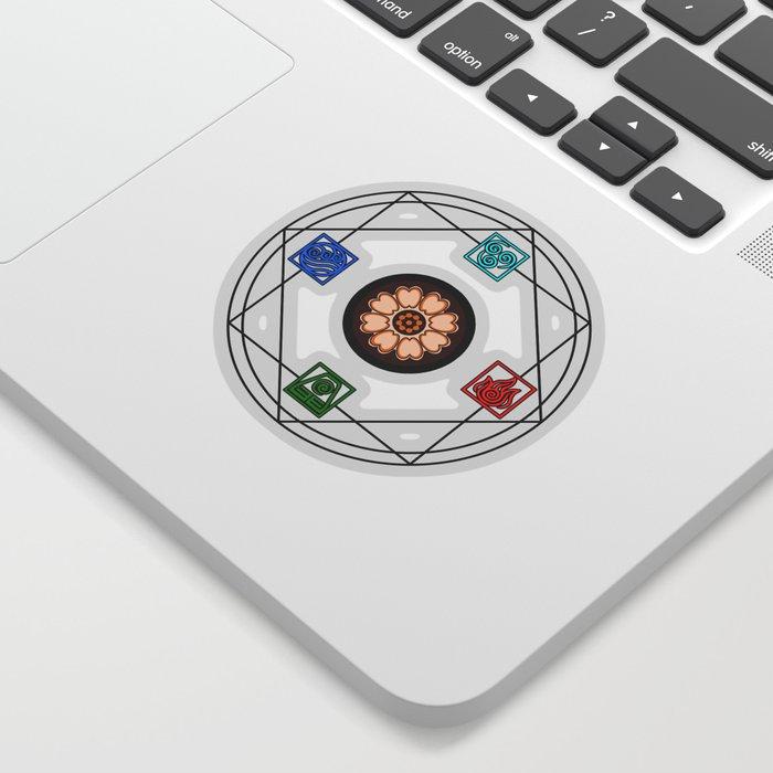 Elemental White Lotus Atlas Sticker By Petcheze Society6