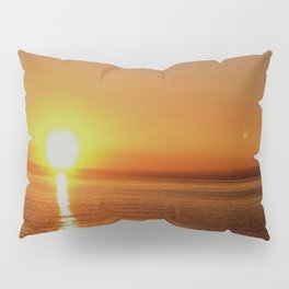 Ocean Flight with the Sun and Moon Pillow Sham