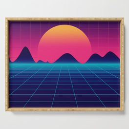 Throwback Sunset Synthwave Serving Tray
