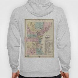 Vintage Map of Milwaukee Wisconsin (1878) Hoody