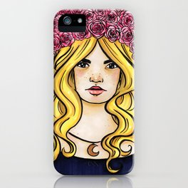 Crown of Roses Marker Drawing by Grimmiechan iPhone Case