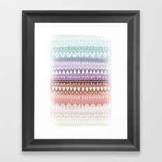 Triangle Gradient Earthy Mix Framed Art Print