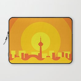 Toronto Minimalism Poster - Autumn Orange Laptop Sleeve