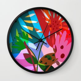 Wildflowers III Wall Clock