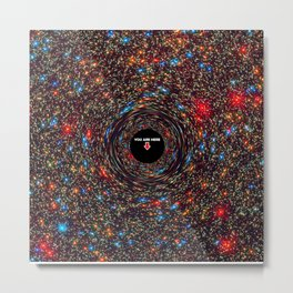 black hole map of the universe Metal Print