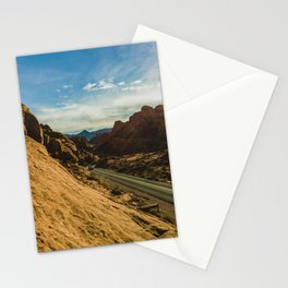 driving through fire Stationery Cards