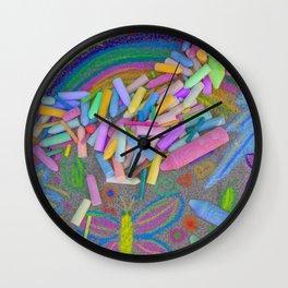 Sidewalk Chalk Wall Clock