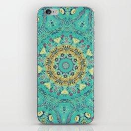 Teal Kaleidoscope iPhone Skin