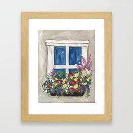 Spring Window Framed Art Print