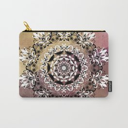 ELEGANT BLACK AND WHITE WATERCOLOR MANDALA Carry-All Pouch